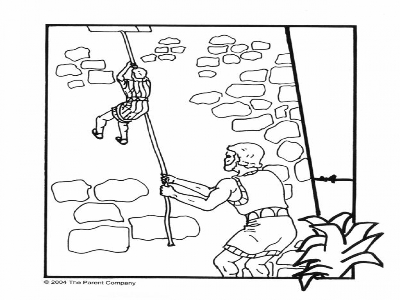 1280x960 Rahab And The Spies Coloring Page Joshua Jericho Promissed Land