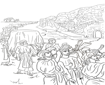 400x322 Wall Of Jericho Coloring Page