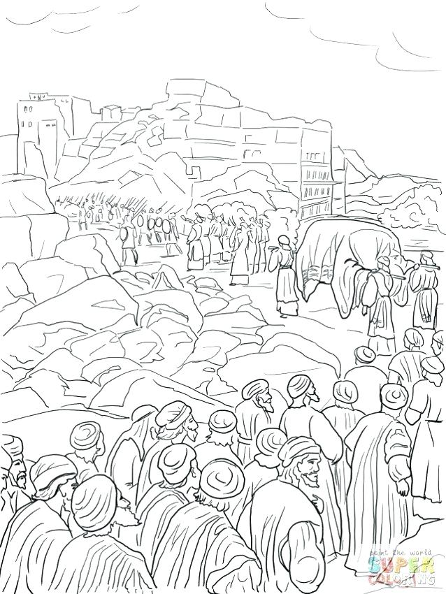 638x850 Battle Of Jericho Coloring Page