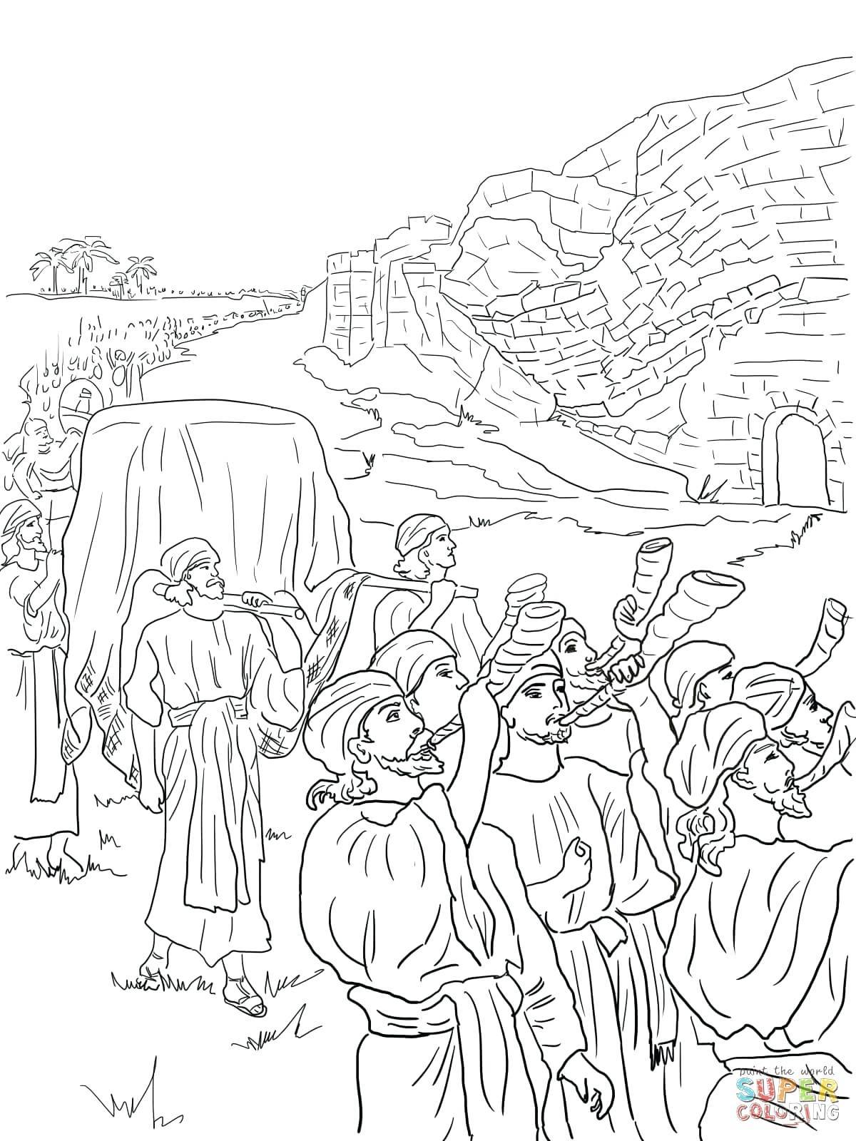 1200x1600 Appealing Fought The Battle Of Coloring Page For And Image Joshua