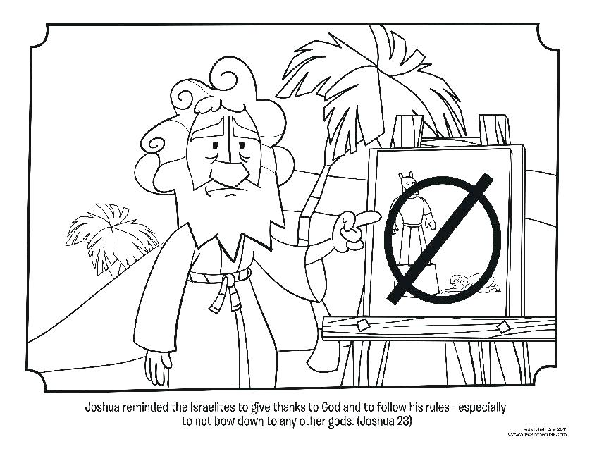 840x647 Battle Of Jericho Activity Page And The Coloring Bible Pages