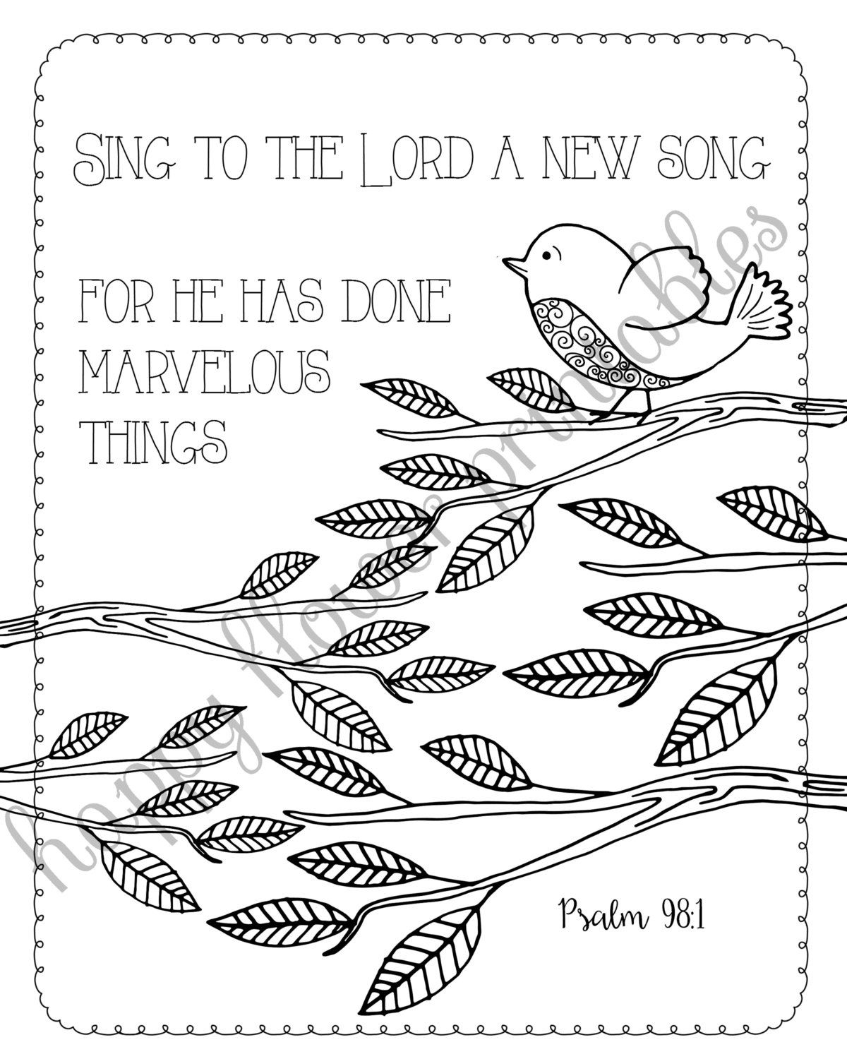 Journal With Coloring Pages