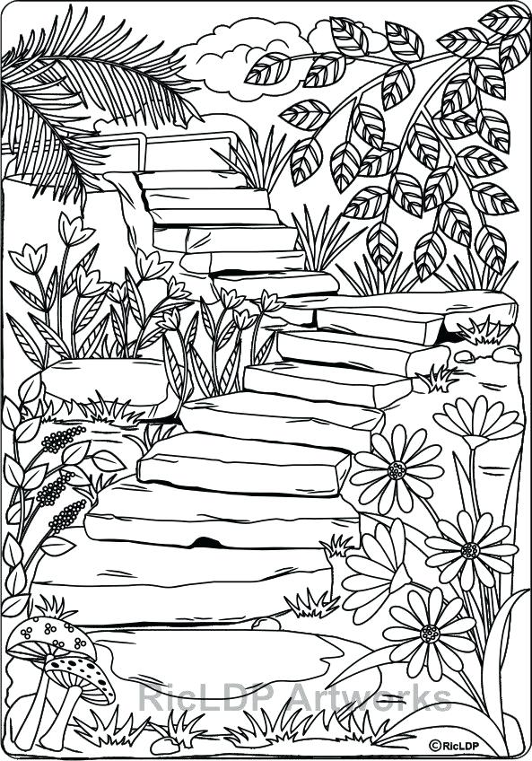 593x848 New Journal With Coloring Pages Or Coloring Pages Nature Coloring