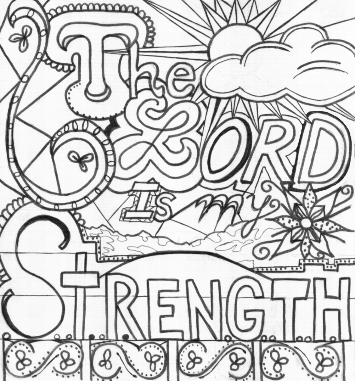 1128x1211 The Lord Is My Strength
