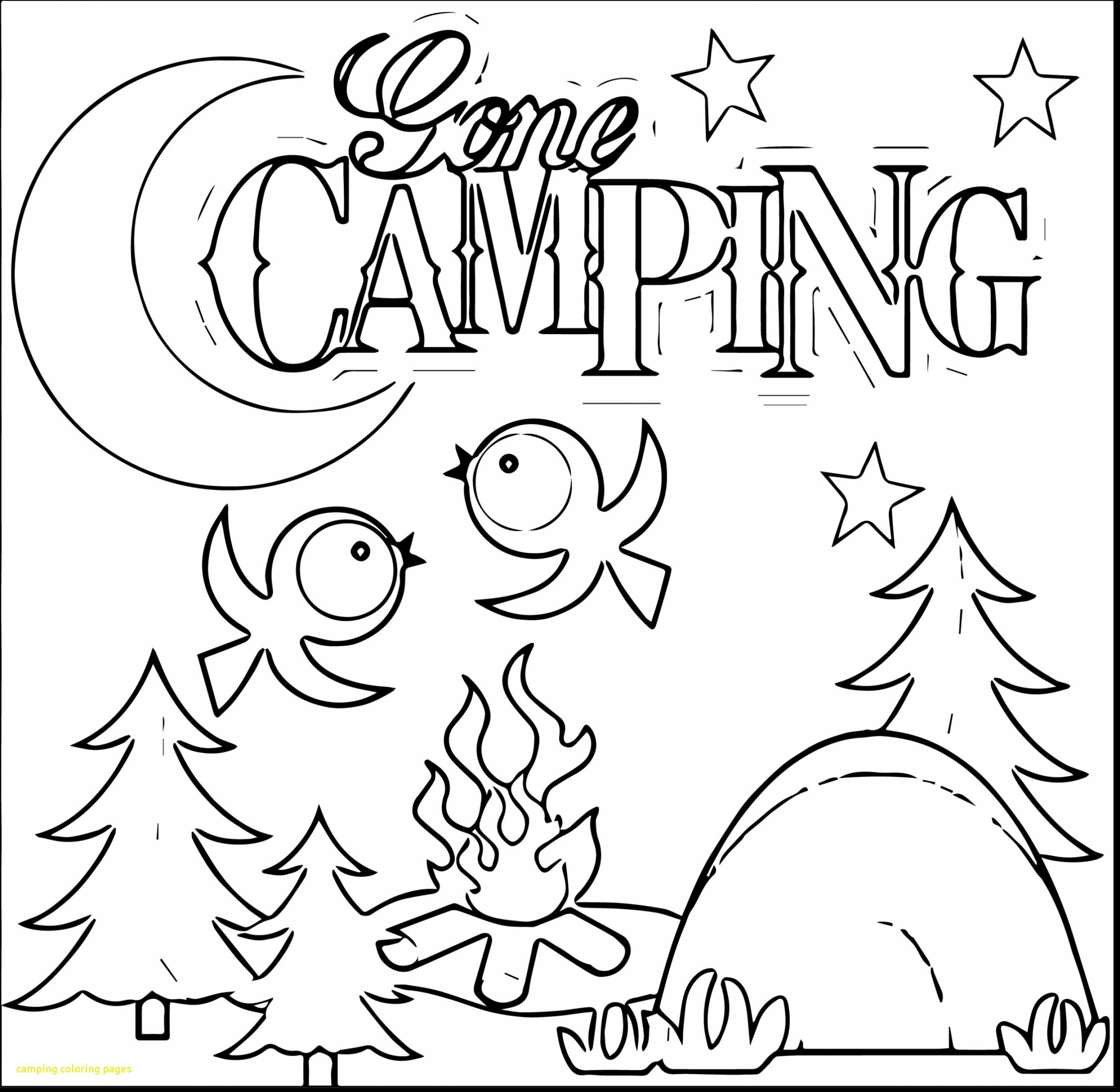 2756x2686 Camping Coloring Pages In The Woods Page Kids Journal