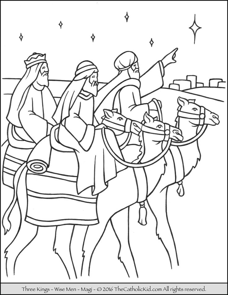 Journey To Bethlehem Coloring Pages