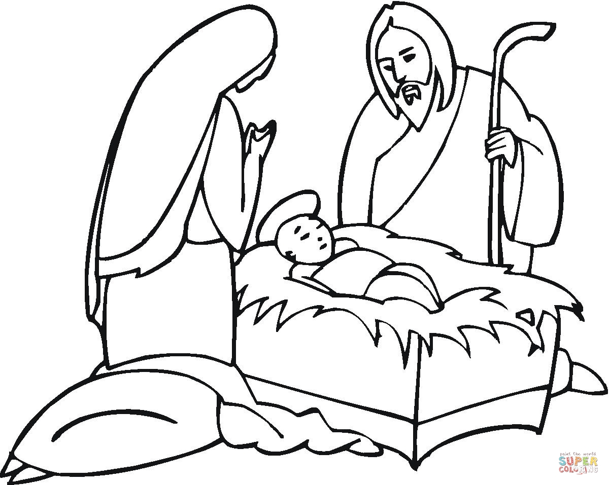 1200x957 Mary And Joseph Coloring Pages