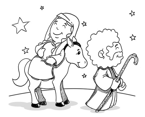 585x471 Mary And Joseph Coloring Pages Saint Joseph Coloring Pages Joseph