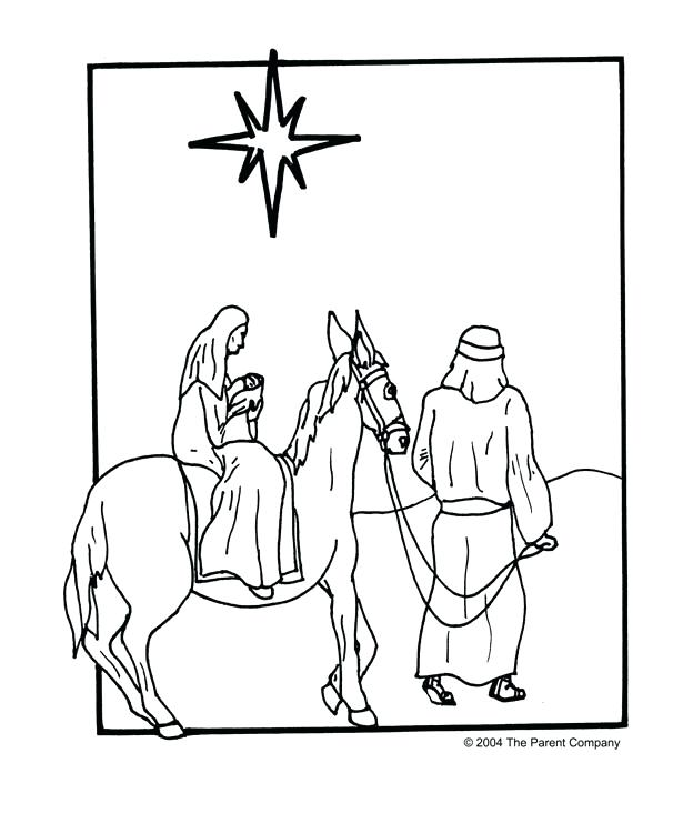 624x732 Mary And Joseph Travel To Bethlehem Coloring Pages Idea Coloring
