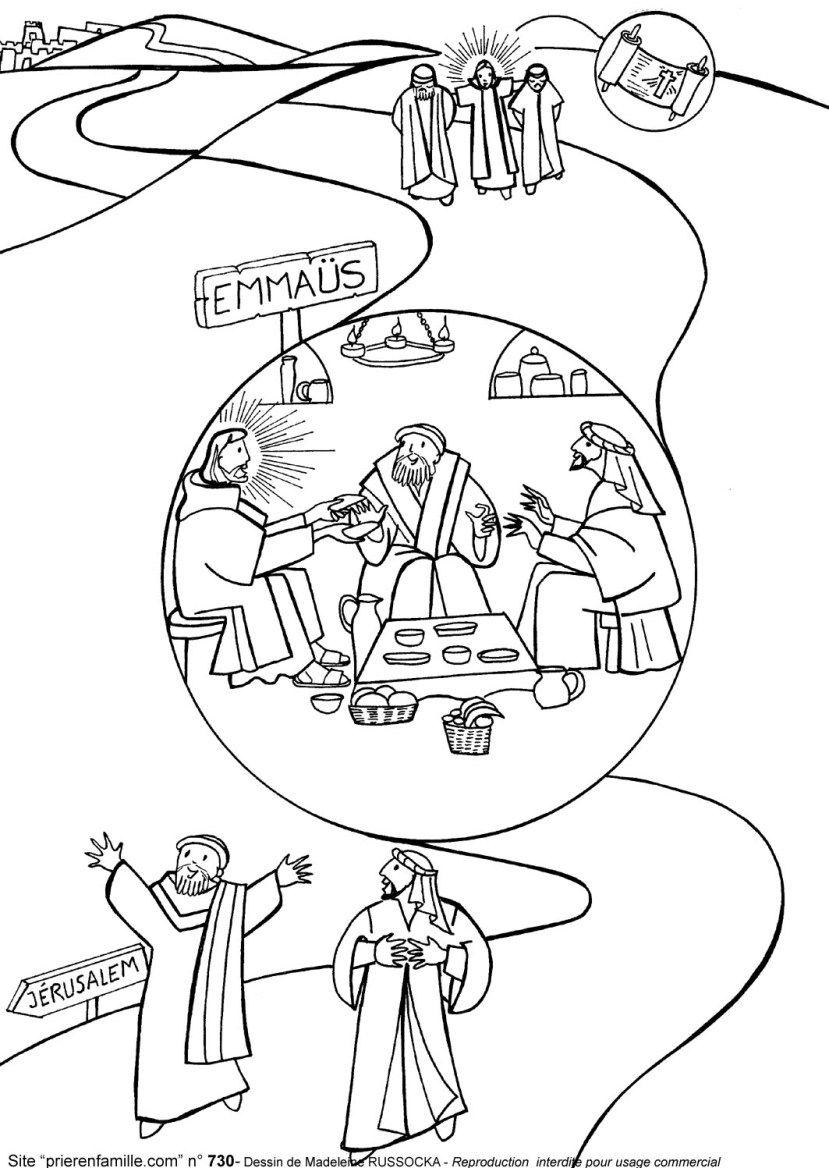 829x1168 Emmaus Geschichte Religionsunterricht Luke