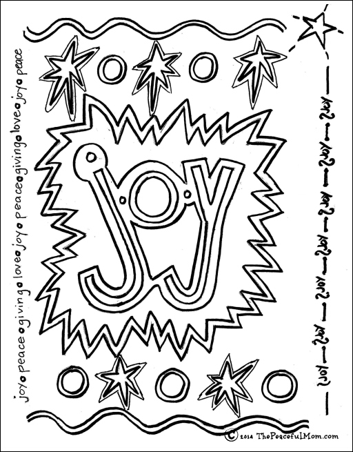 512x655 Joy Coloring Page Coloring Page Joy The Peaceful Mom Cheer