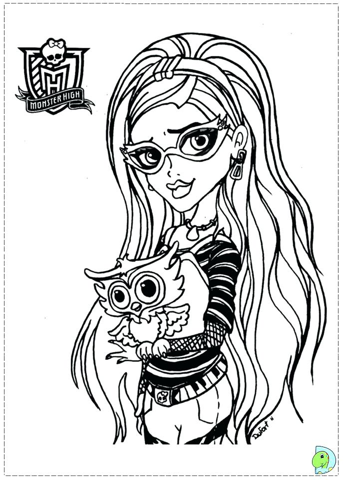 691x960 Coloriage De Monster High Clawdeen Wolf Monster High Coloring