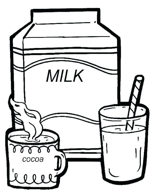 610x740 Milk Coloring Page Milk Coloring Pages Milk Coloring Page Cocoa