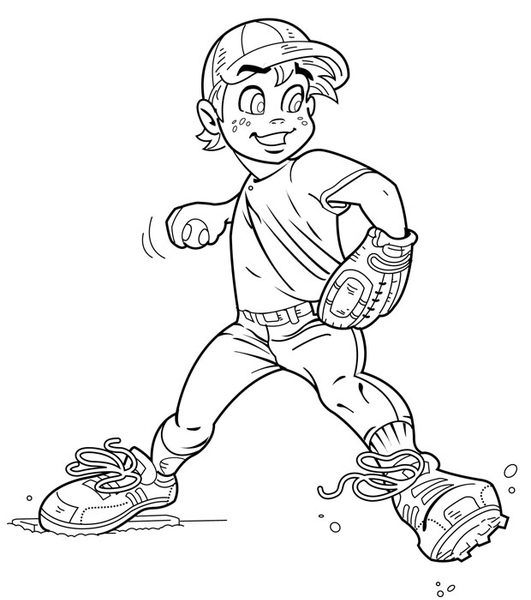 531x600 Pitcher Coloring Pages Coloring Page Ideas