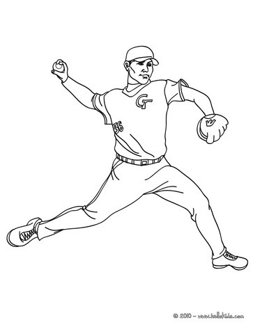 363x470 Pitcher Coloring Pages Baseball Pitcher Coloring Pages Hellokids