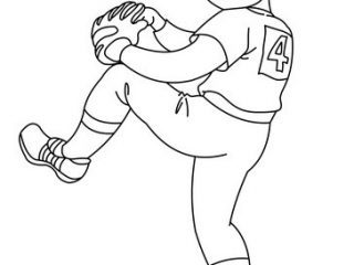 320x240 Pitcher Coloring Pages Kid Baseball Pitcher Coloring Pages