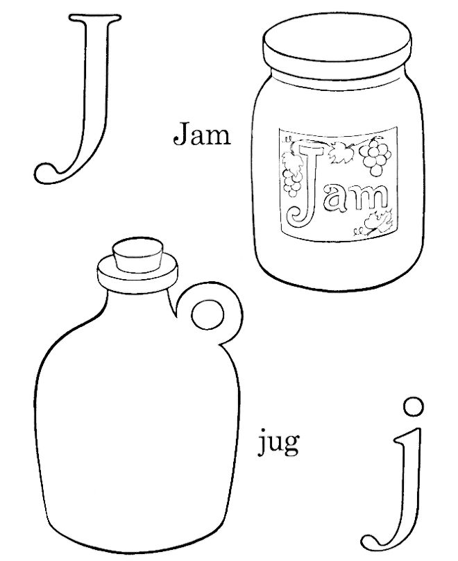 660x808 J For Jam And Jug Coloring Pages Pattern Design Ideas