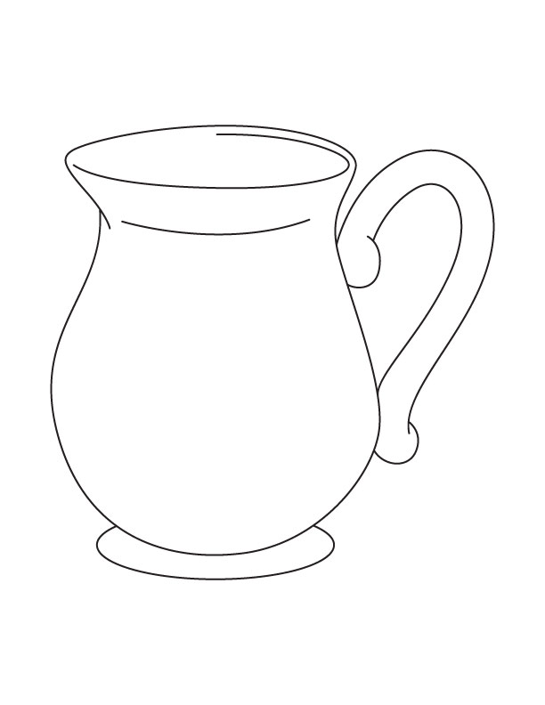 612x792 Jug Coloring Pages