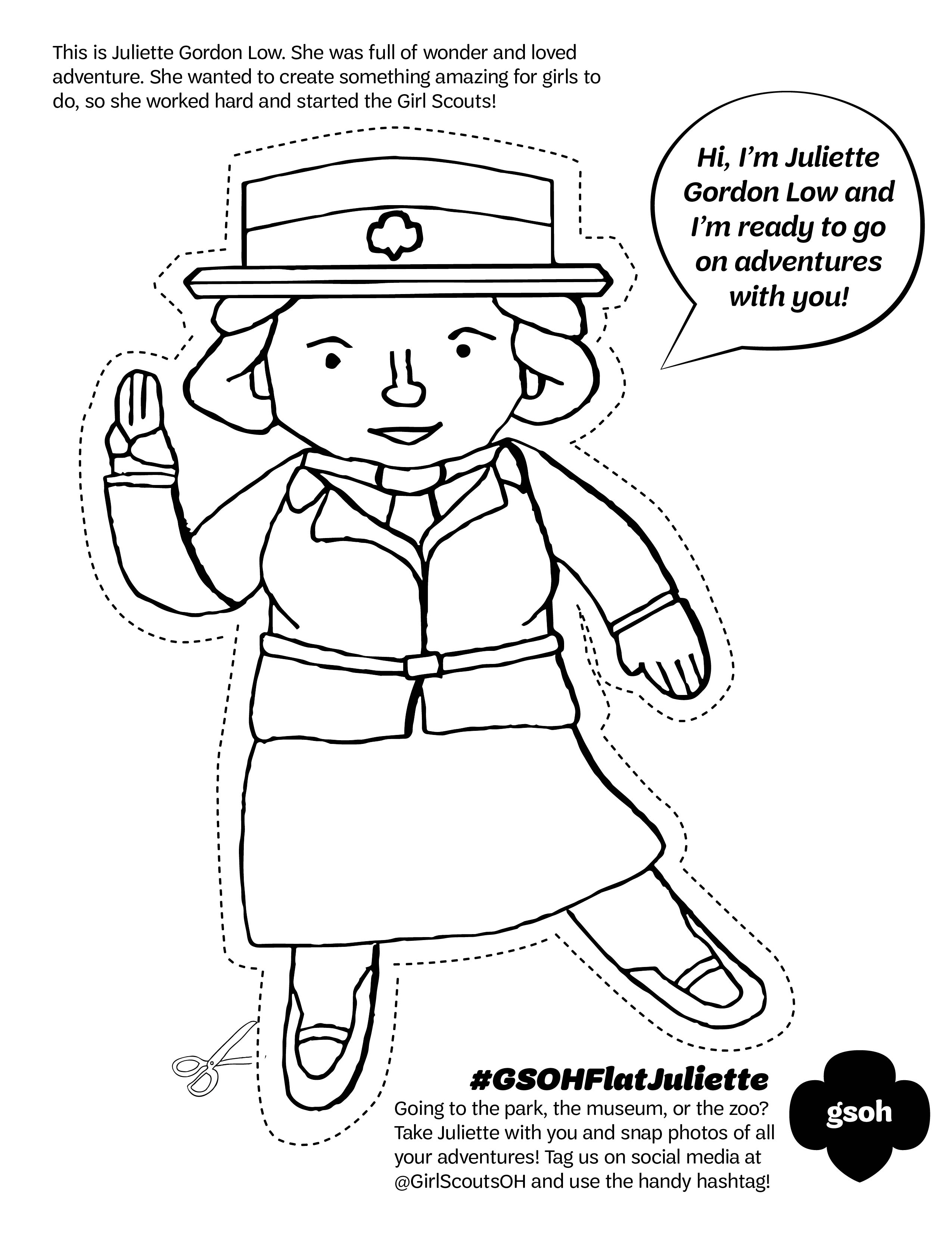 2550x3300 Juliette Gordon Low Coloring Pages To Print Coloring For Kids