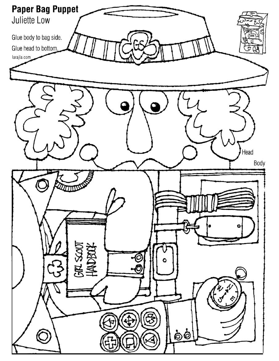 904x1169 Paper Bag Puppet Girl Scout Juliette Low Scribd Girl Scouts