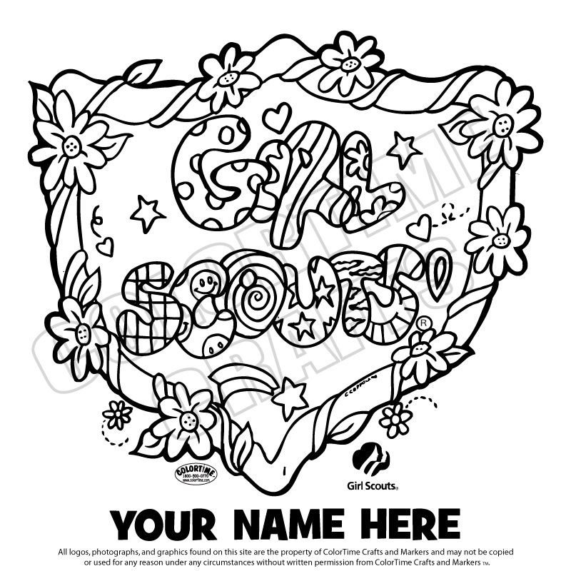800x800 Coloring Page Girl Scout Printables