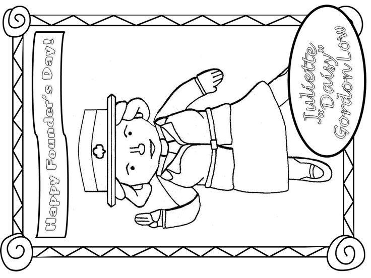 736x552 Girl Scout Juliette Gordon Low Coloring Page