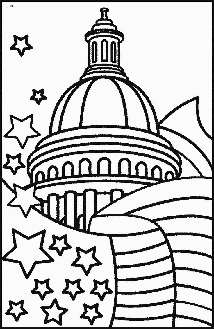 July 4th Coloring Pages Printable