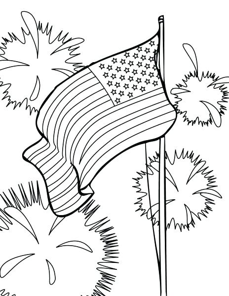 464x600 Coloring Pages For The Fourth Of July Slipper Coloring Page