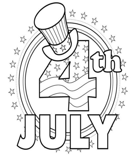 542x649 Happy Of July Coloring Pages Free Coloring Pages