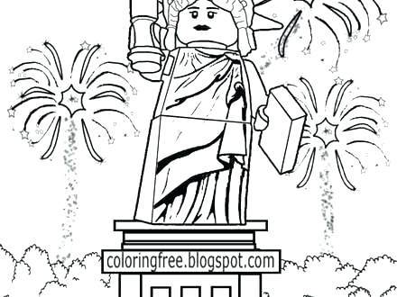 440x330 July Fireworks Coloring Pages Of Page Amazing With Stars