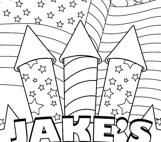 678x600 July Coloring Pages Printable