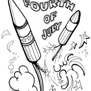 300x300 Free Fourth July Coloring Pages Online