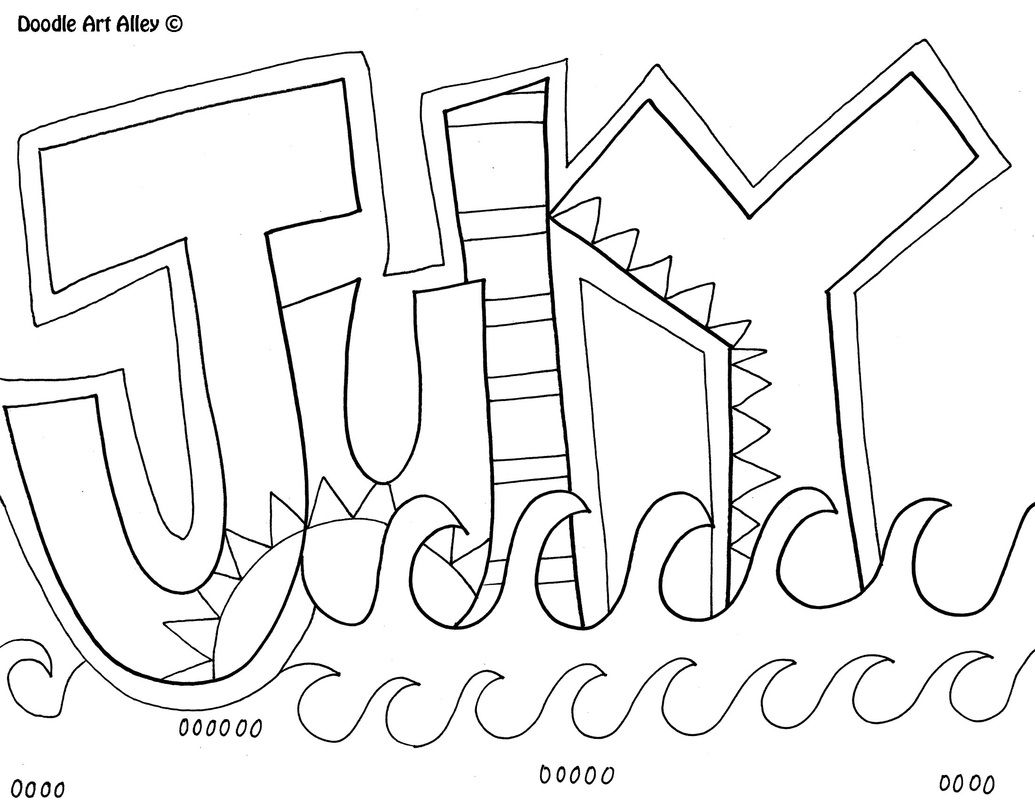 1035x800 July Coloring Page Kids