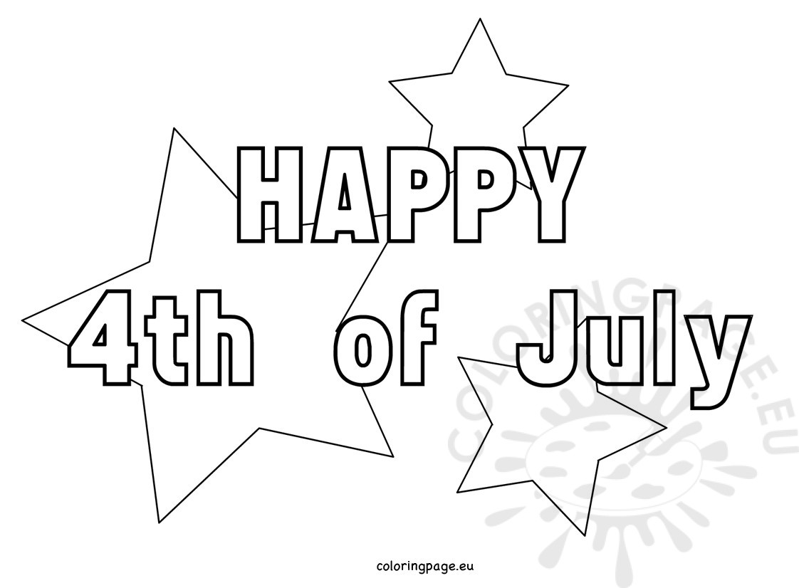1122x826 July Coloring Pages With Stars Coloring Page