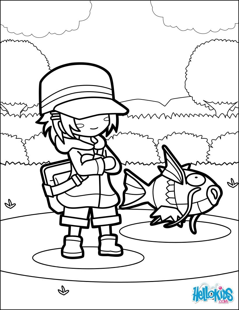 820x1060 Discover This Beautiful Pokemon Magikarp Jump Coloring Page More