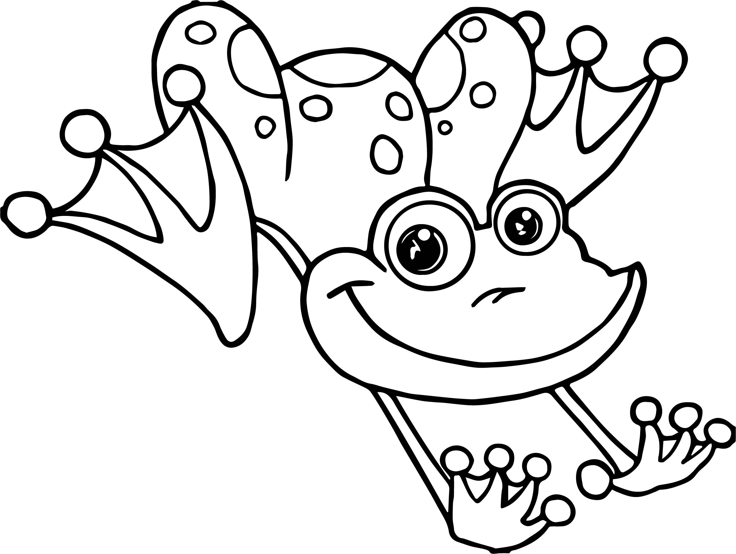 2503x1886 Frog Jumping Coloring Page Wecoloringpage And Jumper