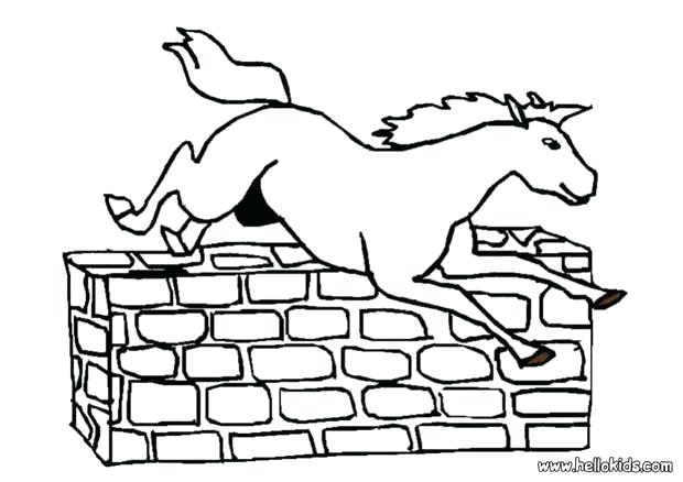 620x438 Horse Jumping Coloring Pages Jumping Horse Coloring Pages Within