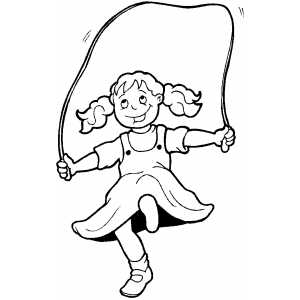 300x300 Little Girl Jumping Rope Coloring Sheet
