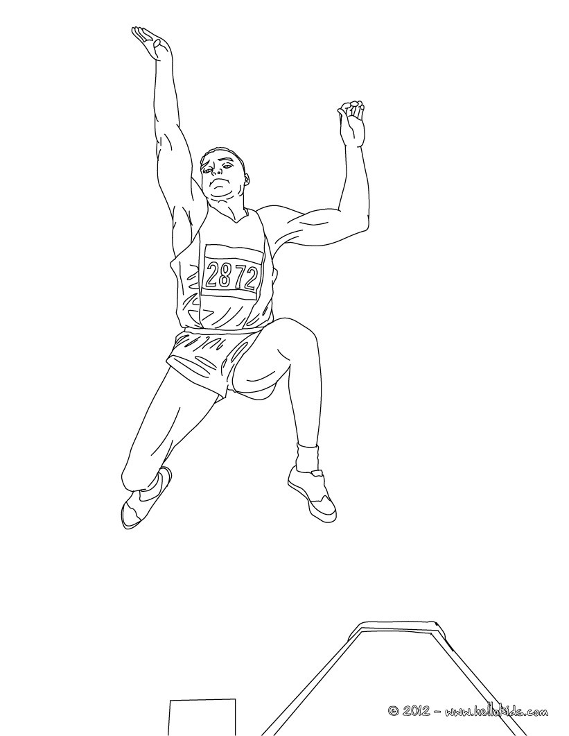 821x1061 Long Jump Athletics Coloring Pages