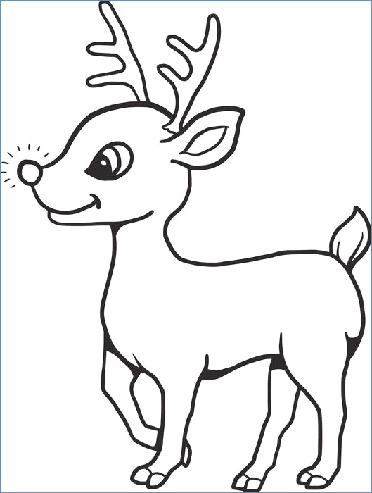 529x700 Rudolph Reindeer Jump Coloring Page