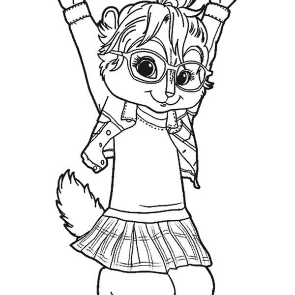 600x600 The Chipettes Coloring Pages Brittany The Chipettes Jump Coloring