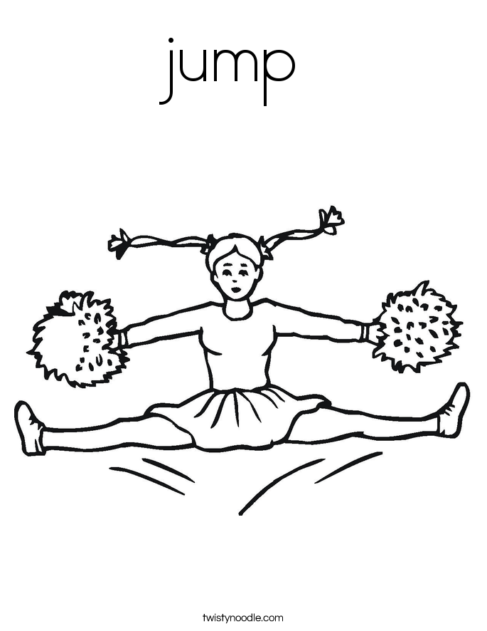 685x886 Jump Coloring Page