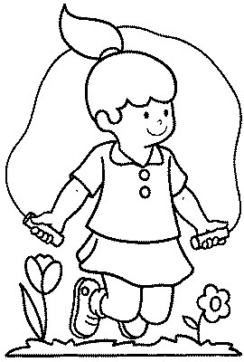 270x400 Transmissionpress Jumping Rope Kids Coloring Pages