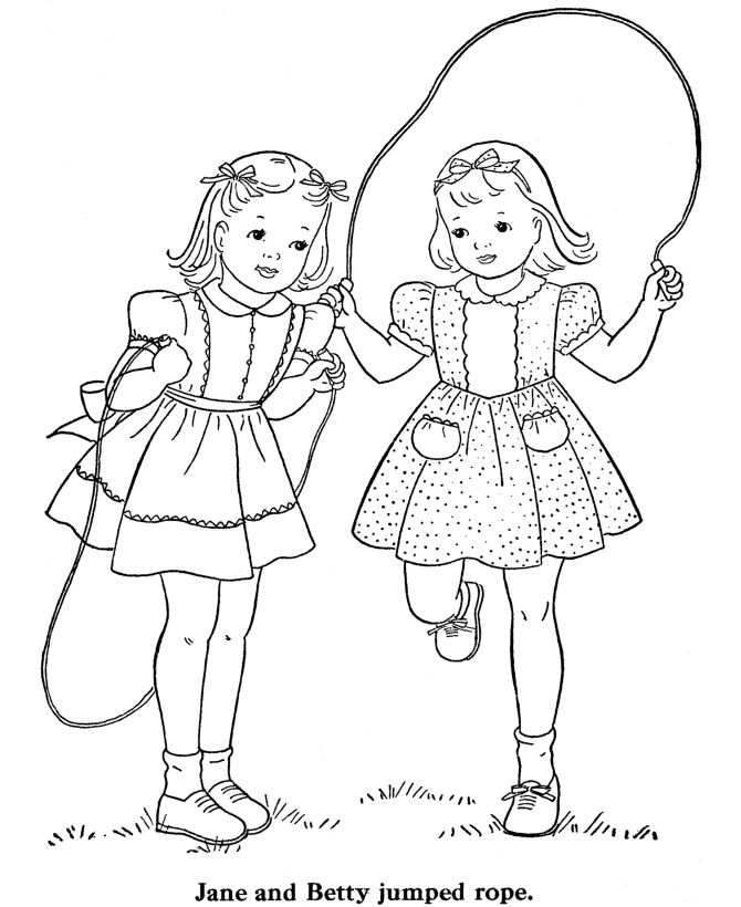 Jump Rope Coloring Pages