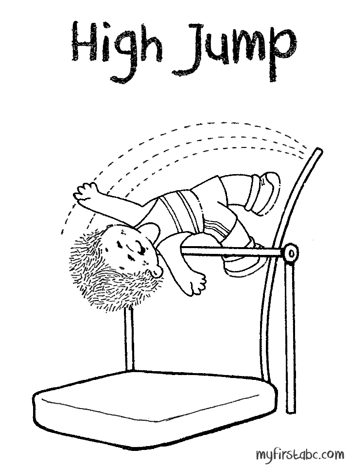 718x958 High Jump Coloring Page