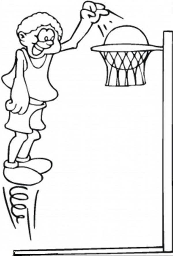 600x889 Jump Coloring Page