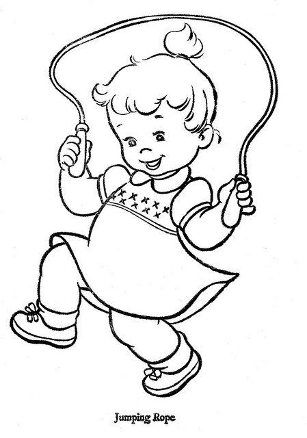449x640 Kids Jumping Rope Coloring Pages