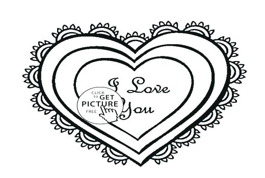 520x350 Broken Heart Coloring Pages