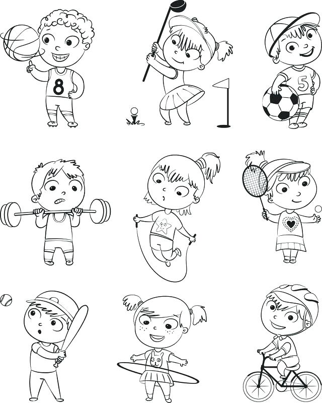 640x800 Fitness Coloring Pages Fitness Coloring Pages Coloring Home Health