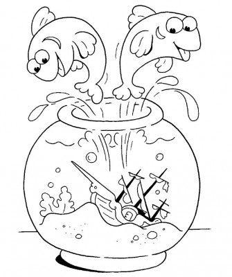 335x400 Jumping Fish Coloring Pages Laminas Para Pintar Cuadros Gratis